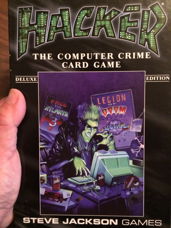 The cover art for HACKER, a card game from Steve Jackson Games